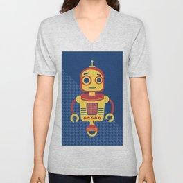 Rob-Bot04 Unisex V-Neck