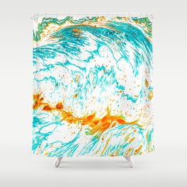 Waves of Thought #abtsract #painting Shower Curtain
