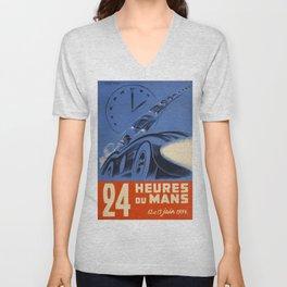 1954 Le Mans poster, Race poster, car poster, Unisex V-Neck