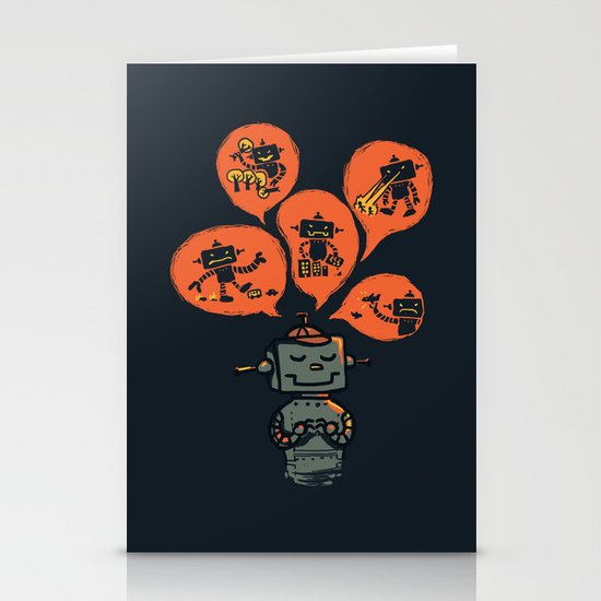When I grow up - an evil robot dream Stationery Cards