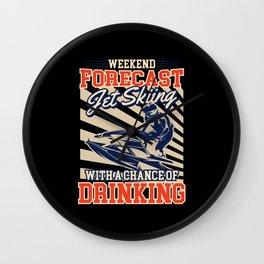 Jet Ski Jet Ski Gifts Jet Ski Kids Water Sports Wall Clock
