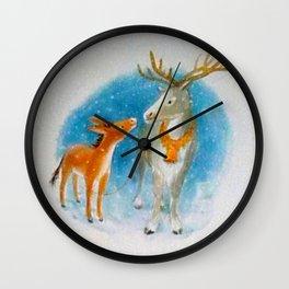 Confidences d'un renne avec un âne... Wall Clock