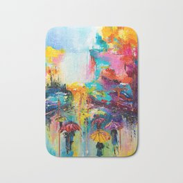 RAIN FALL DOWN Bath Mat