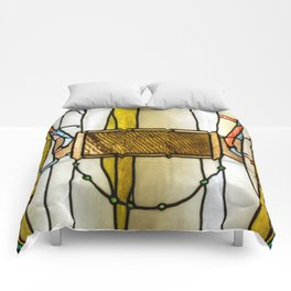 "John La Farge ""Trompe L'Oeil Curtain"" 1882-1884 Comforters"