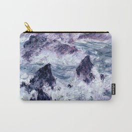 Monet : Storm At Belle Ile Carry-All Pouch