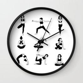 Yogavore - Pretzels and Namastes Wall Clock
