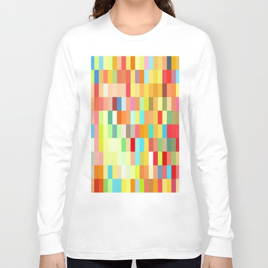colorful rectangle grid Long Sleeve T-shirt