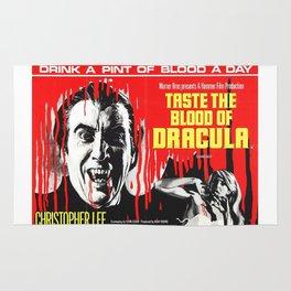 Taste the Blood of Dracula, vintage horror movie poster Rug