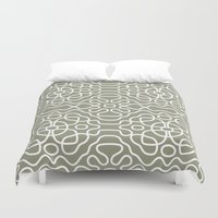 tesla Duvet Covers featuring Tesla Pattern 1 by BeverlyJane