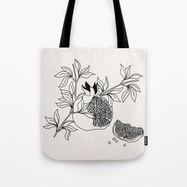 Pomegranate (BW) Tote Bag