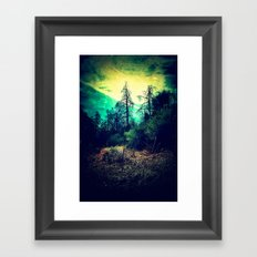 Looking Out through the Rabbit-Hole Framed Art Print