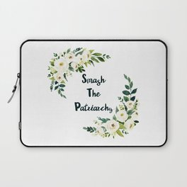 Smash The Patriarchy - A Beautiful Floral Print Laptop Sleeve