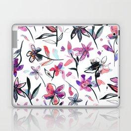 Ink flowers pattern - Viola Laptop & iPad Skin