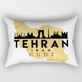 TEHRAN IRAN SILHOUETTE SKYLINE MAP ART Rectangular Pillow