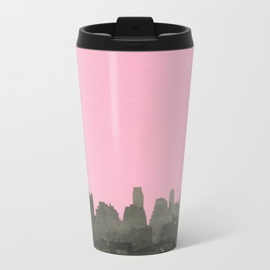 New York Nights Metal Travel Mug