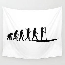 Stand Up Paddling Evolution Wall Tapestry