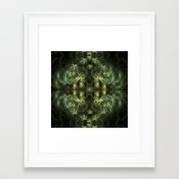 green pattern Framed Art Prints featuring Green pattern by Armine Nersisian