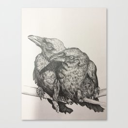 Huginn and Muninn Canvas Print