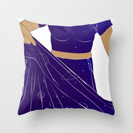 Sari of Universe Throw Pillow