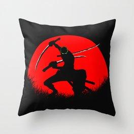 tree sword warrior Throw Pillow