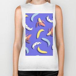Abstract banana pattern. Biker Tank