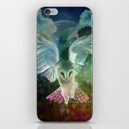 """Owl flight and spring night"" iPhone Skin"