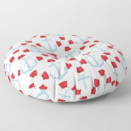 Anchors And Buoys Pattern Floor Pillow