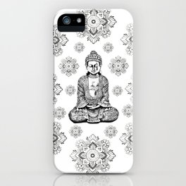 Buddha, HOME DECOR,with hand-painted Mandala Clouds,iPhone case,iPhone cover,iPhone skin,Laptop skin iPhone Case