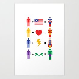 Assemble Math Art Print