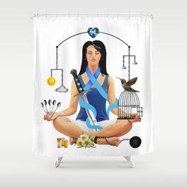 The Chronic Illness Warrior (CFS/ME) Shower Curtain