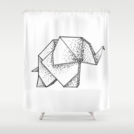 Origami Elephant Shower Curtain