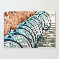 bicycles Canvas Prints featuring Bicycles by Jewels