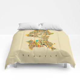 Seattle map Comforters