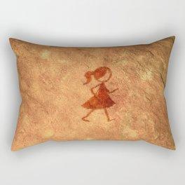 Flipt Pictures Girl Cave Painting Rectangular Pillow
