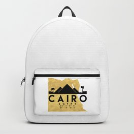 CAIRO EGYPT SILHOUETTE SKYLINE MAP ART Backpack