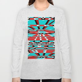 Grid Square TV Crazy Long Sleeve T-shirt