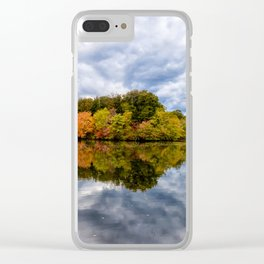 Autumn Reflections Landscape Photograph Clear iPhone Case