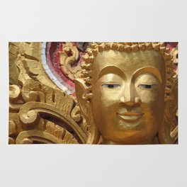 Buddha Head Illustration Design gold Rug