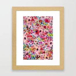 Little Peachy Poppies Framed Art Print
