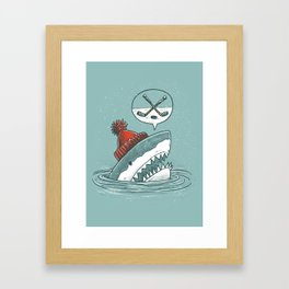 Hockey Shark Framed Art Print