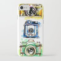 cameras iPhone & iPod Cases featuring Vintage Cameras by Abby Diamond