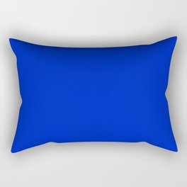 Solid Deep Cobalt Blue Color Rectangular Pillow