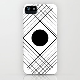 Interlaced Lines iPhone Case