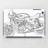 cafe racer iPad Cases featuring NORTON COMMANDO 961 CAFE RACER 2011 by Larsson Stevensem