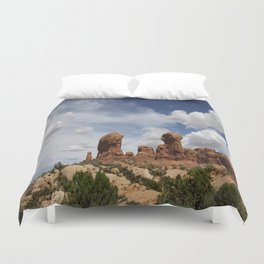 Parade Of the Elephants Duvet Cover