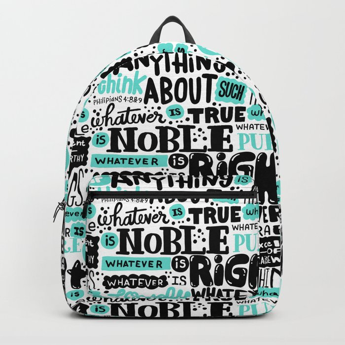 true noble right lovely admirable Backpack