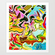 Summer Stain Art Print