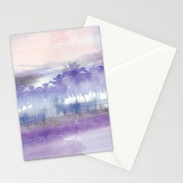 vintage tropical abstract landscape Stationery Cards