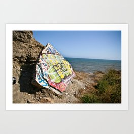 Sunken City Graffiti Art Print