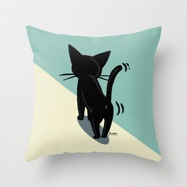 His back Throw Pillow